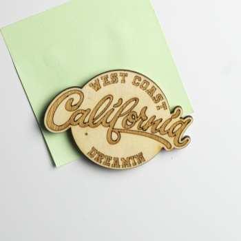 magnet bois décoration route 66 californie usa 50's rock surf