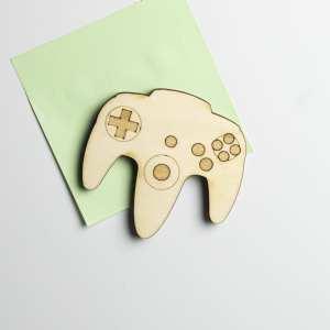 magnet bois retro gaming décoration n64 geek jeux vidéos