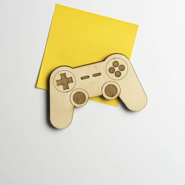 bois magnet retro playstation manette console gaming room geek