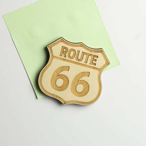 magnet bois décoration route 66 retro vintage USA biker