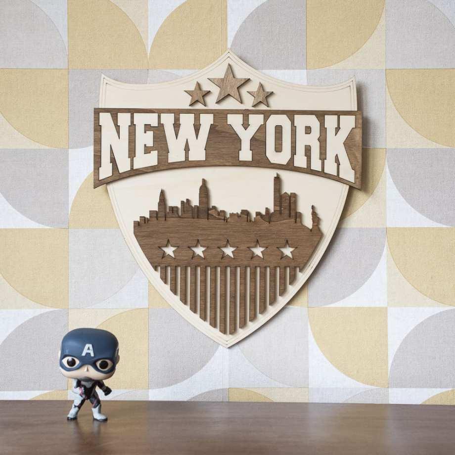 usa new york cadeau decoration interieur murale NYC police skyline