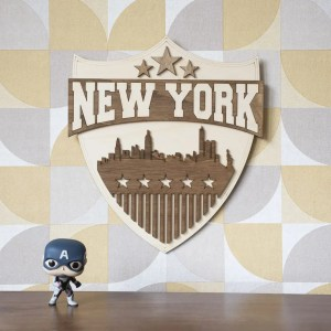 usa new york cadeau decoration interieur murale NYC police skyline