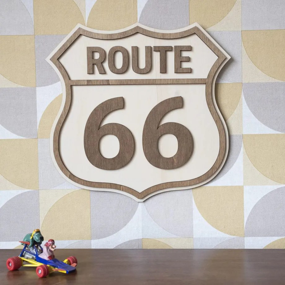 decoration murale route 66 usa vintage voyage road trip