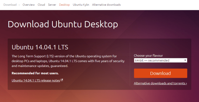 How to install Ubuntu from a USB: step one