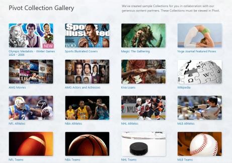 Pivot Collection Screen