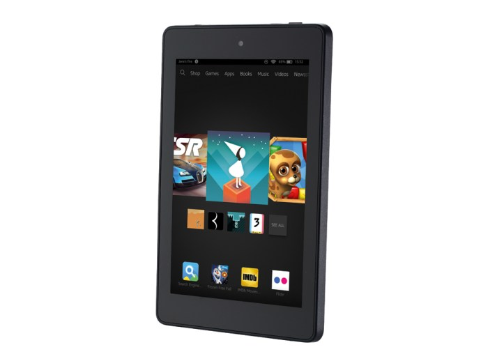 Amazon Fire HD 6 review - front, slightly angled