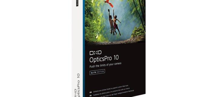 DxO OpticsPro 10 pack shot