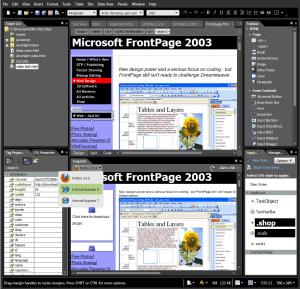Microsoft Expression Web 3 snapshot