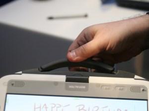 Classmate tablet handle