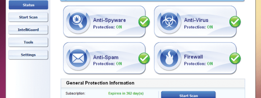 PC Tools equips its security suite with a big, friendly interface.