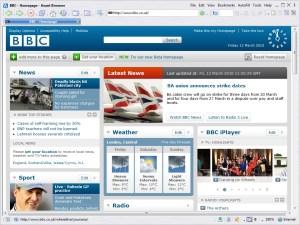 Avant Browser BBC homepage