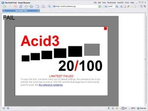 Avant Browser Acid3 test
