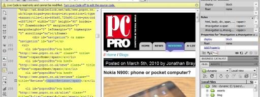 Adobe Dreamweaver CS5 browser