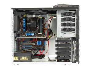 PC Specialist Fusion 1090T Evo interior view