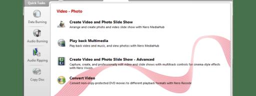 Nero Multimedia Suite 10 - SmartStart
