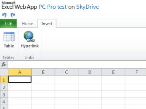 Excel Web App View tab