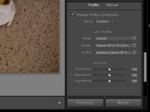 Adobe Photoshop Lightroom 3 lens correction