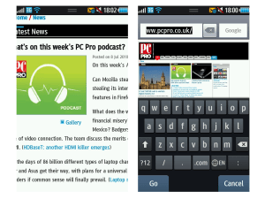 Samsung Wave - browser and keyboard