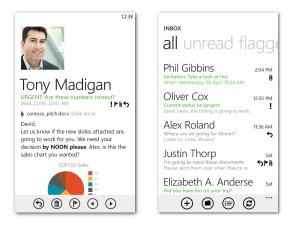 Microsoft Windows Phone 7 - Email view