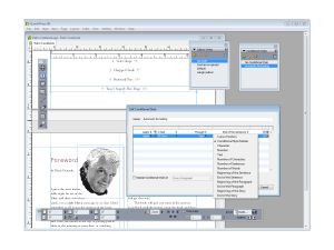 QuarkXPress 9 - styles