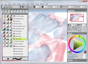 Corel Painter 12 - main interface