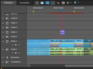 Adobe Premiere Elements 10 - timeline