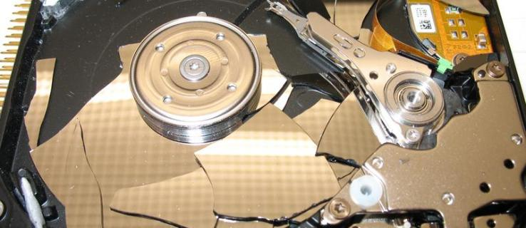 What does it take to destroy a hard disk?