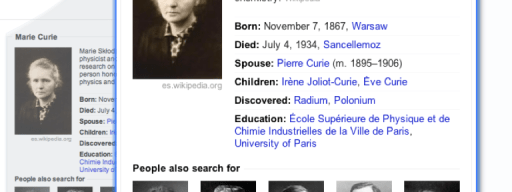 Marie Curie search