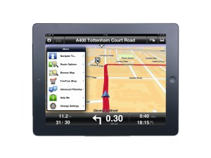 TomTom satnav app on iPad