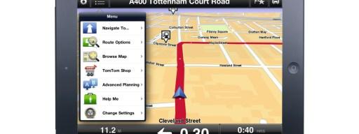 TomTom satnav app on iPad