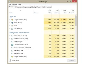Windows 8 - Task manager
