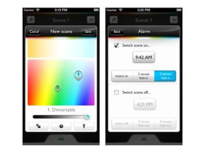 Philips hue - iOS app screenshots