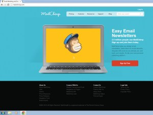 MailChimp is easy to use, and for small and simple mailing lists it's free