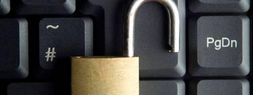 Security padlock open