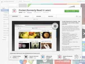 Pocket Chrome Web Store