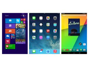 Apple iOS vs Android vs Windows 8.1 – what's the best compact tablet OS?