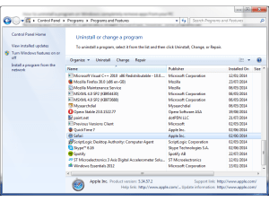 How to uninstall a program on Windows