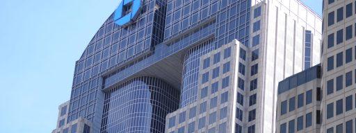 Top of JPMorgan Chase Tower by Joe Mabel, via Wikimedia Commons