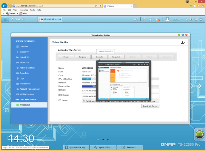 Qnap's Virtualization Station hosts multiple VMs and OSes