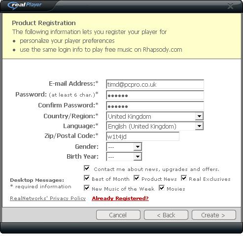 RealPlayer install