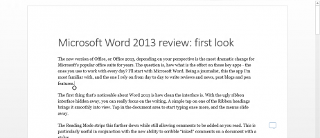 Microsoft Word 2013 review: first look