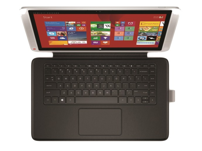 HP Envy X2 13 - top-down view of keyboard