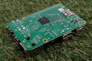 Raspberry Pi 2 review - three-quarter view underside