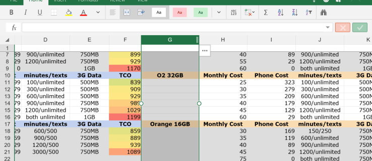Excel Preview for Windows 10
