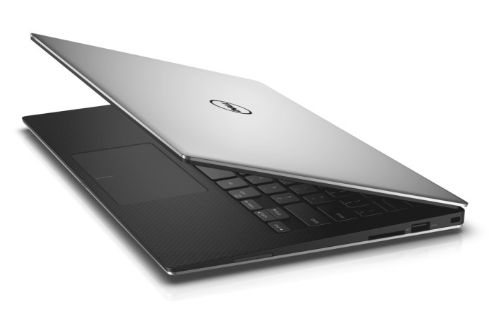 Dell XPS 13 (2015) review - from side, half closed