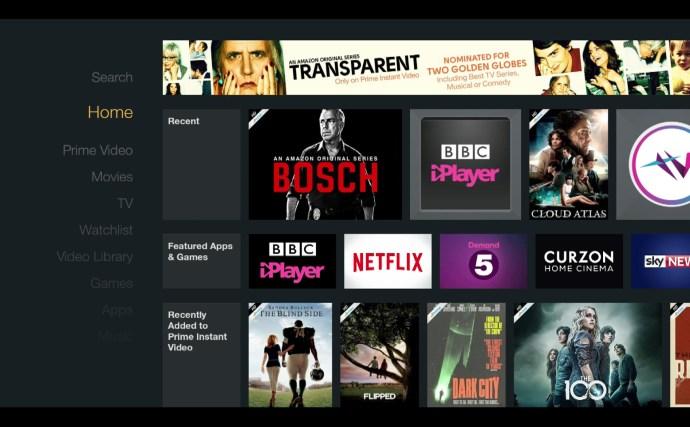 Amazon Fire TV Stick review - main homescreen