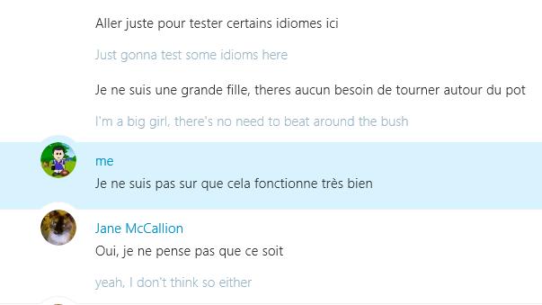 Skype Translator preview - IM translation