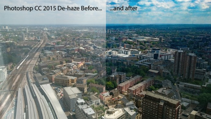 Adobe Photoshop CC 2015: De-haze before and after