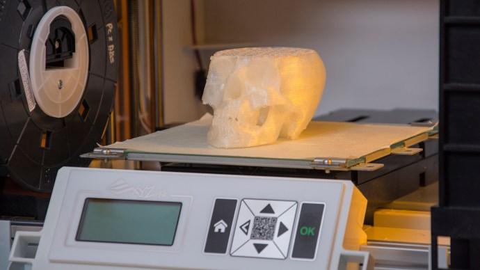 XYZprinting da Vinci Junior review: Skull model inside