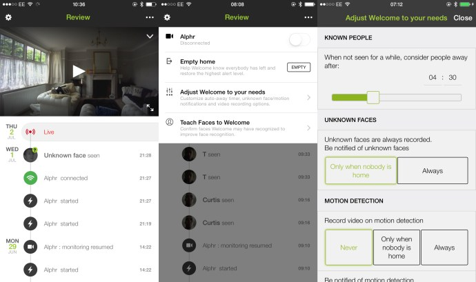 Netatmo Welcome review: Software screenshots